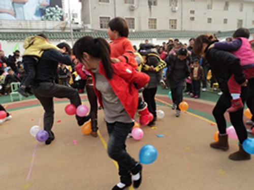 上派镇幼儿园举办庆元旦亲子运动会
