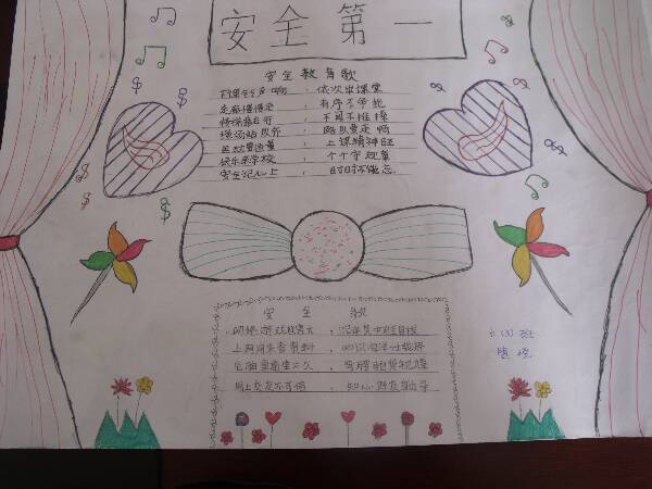 梅岭小学西区校开展国防手抄报评比活动